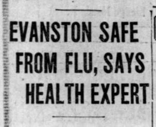 Evanston Pandemic newspaper article