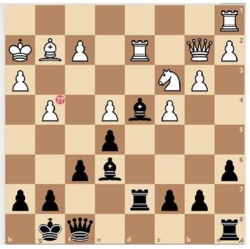 Chess board, position 1