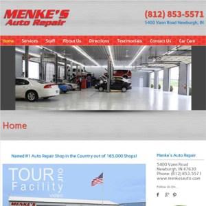 menke's-Auto-Repair-Website