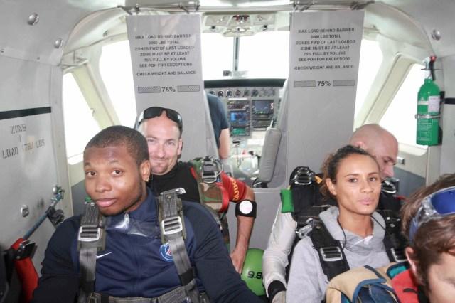 Hervé en avion