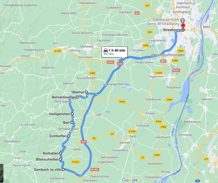 Visite et excursion en Alsace avec votre chauffeur VTC - Evasion Cars