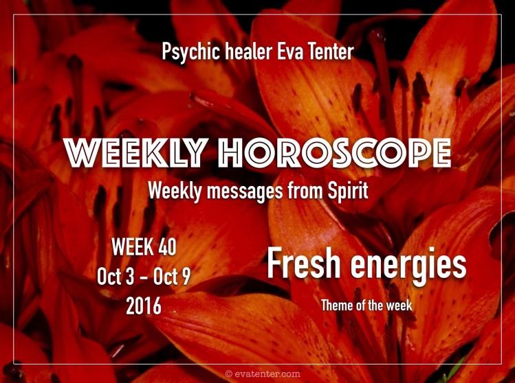 Weekly horoscope week 40