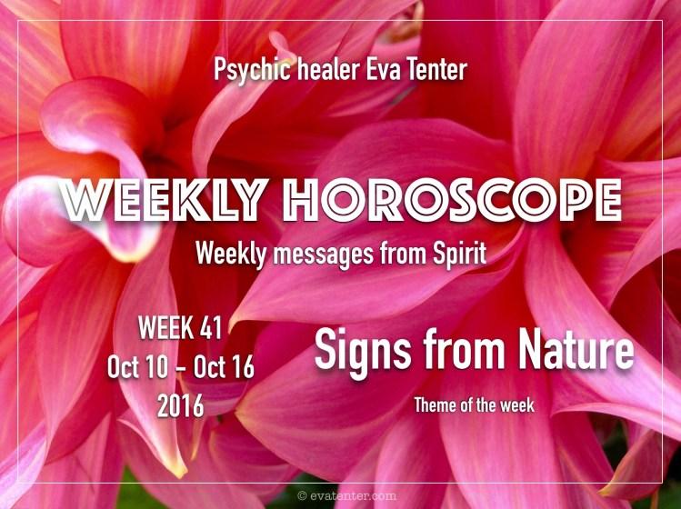 Weekly horoscope week 41 2016