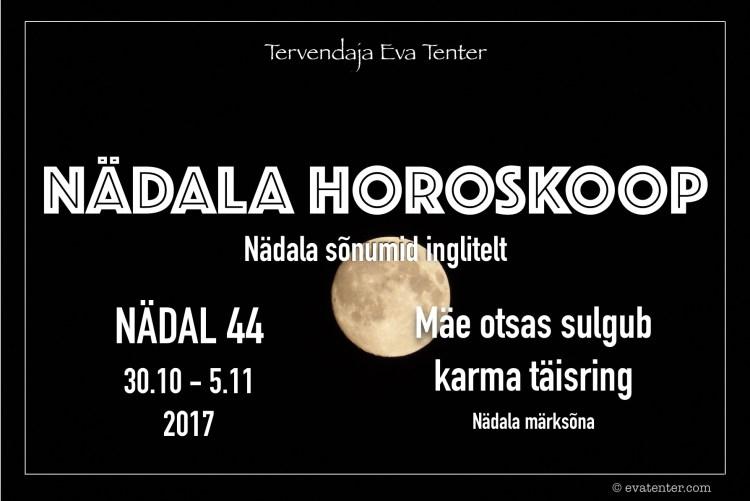 nädala horoskoop 44 2017