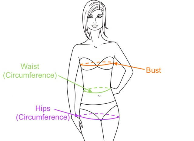 cum să măsori bustul, talia și șoldurile