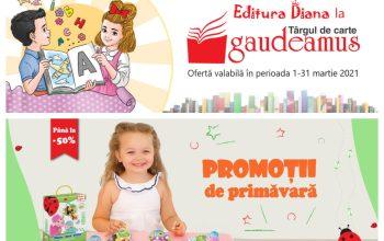 Promoții de primăvară și oferte la Editura Diana