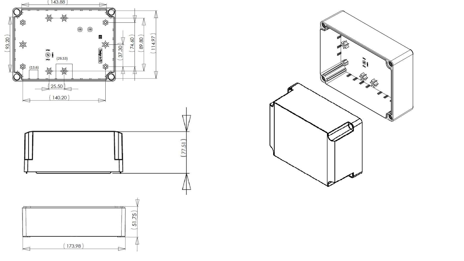 Dn16t Junction Box Dn Series Ip66 Enclosures