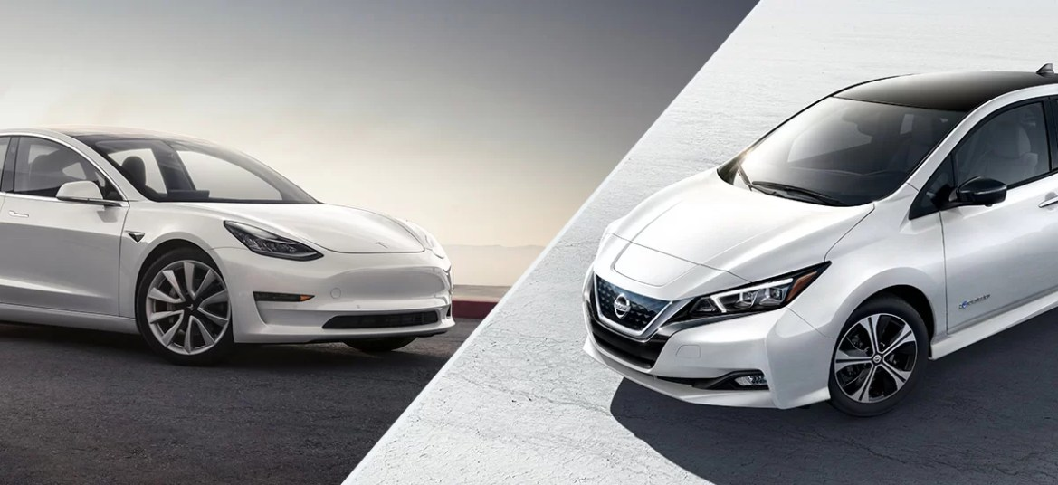 Tesla Model 3 Beats Nissan Leaf in the UK