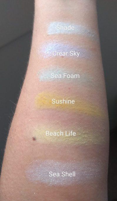 swatch 1 paleta de sombras LIFE´S A BEACH