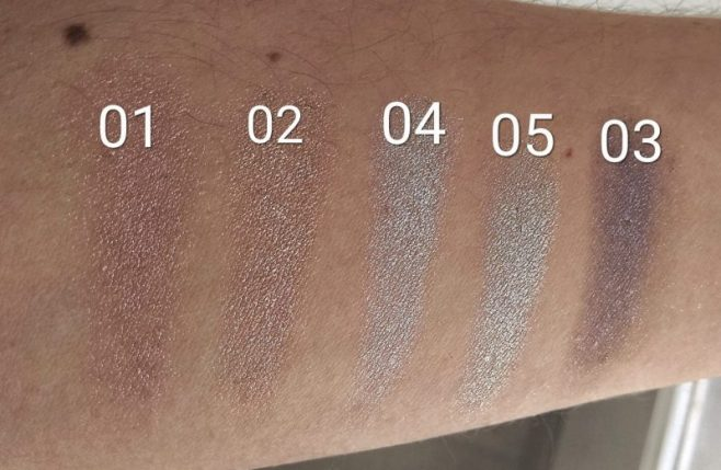 Melted Chrome sombras metalizadas