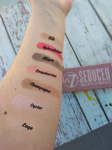 swatch 1 Seduced paleta de W7