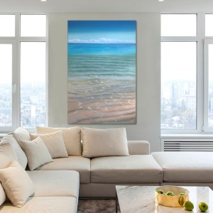 Original Tropical Beach Painting on Canvas - Salt and Sky