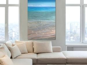 Original Tropical Beach Painting on Canvas - Salt and Sky
