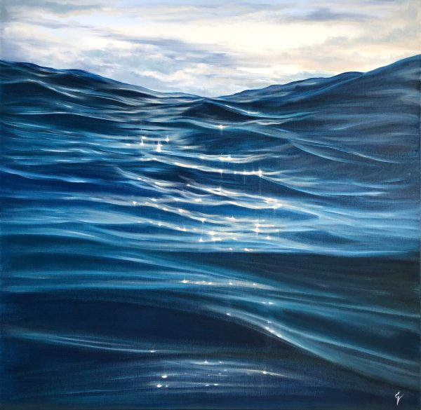 Contemporary Seascape Oil Painting - Dances with Waves