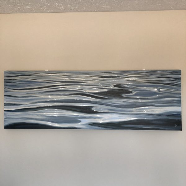Extra large contemporary seascape painting - Shimmering Light