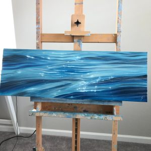 Glittering Tides - original ocean painting oil on canvas
