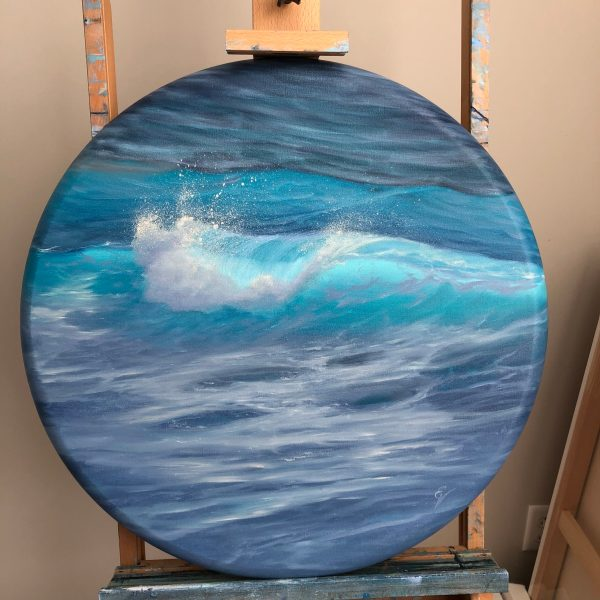 Original Ocean Wave Painting, oil on canvas