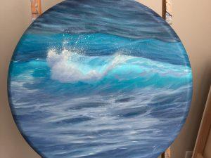 Original Ocean Wave Painting, oil on canvas