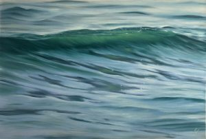 Original ocean wave painting - Emerald of the Sea