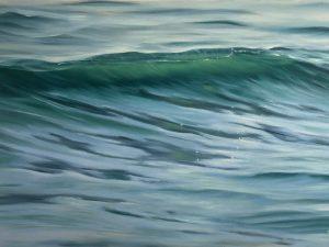 Original ocean wave painting - Emerald of the Sea