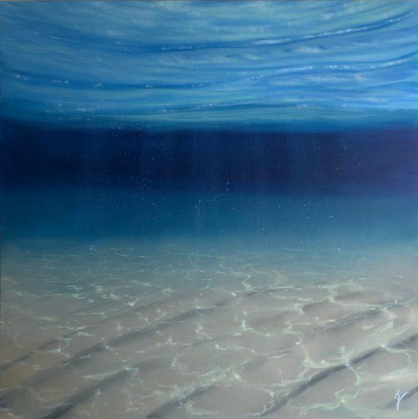 Original Blue Oil Painting - Underwater Blues