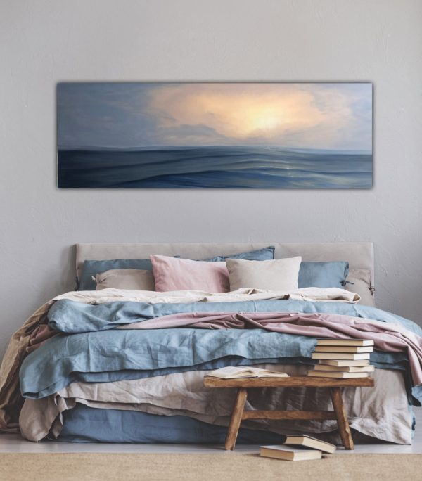 Where The Sky Meets The Sea - Original Sunset Painting