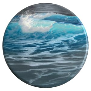 Rolling Together - original oil painting of ocean waves