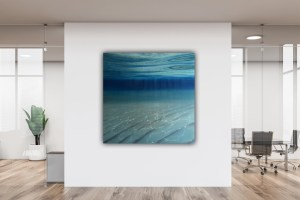 Large Blue Ocean Painting