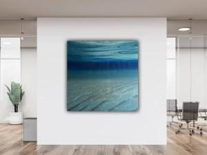 Large Blue Ocean Painting