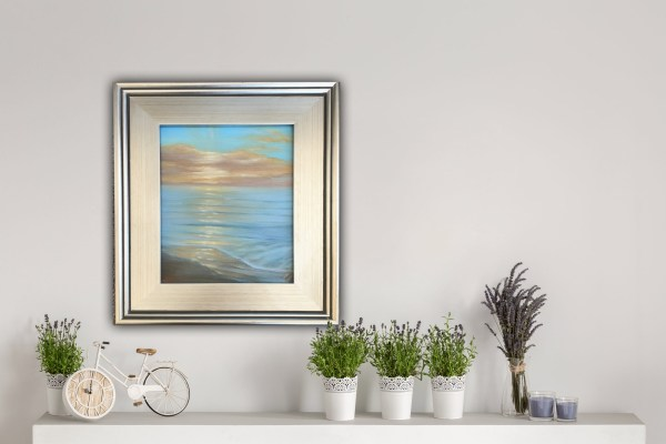 Original plein air painting of a sunrise