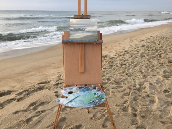 Before Dawn- Plein Air Seascape Oil Painting from the Outer Banks, North Carolina