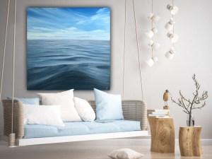 Embrace - original ocean painting on canvas