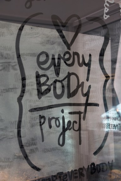 The Women's Health Clinic teamed up with local artist Kal Barteski to create a body positivity installation downtown.