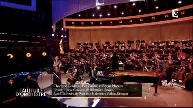 Avec l'Orchestre de Paris, Alain Altinoglu, Edagr Moreau et Charlotte Coulaud