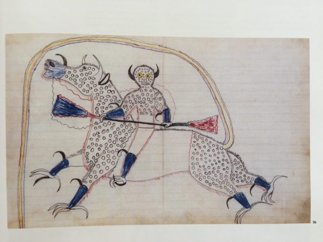Black Hawk Dream or Vision of Himself Changed to a Destroyer or Riding a Buffalo Eagle (1880-81)