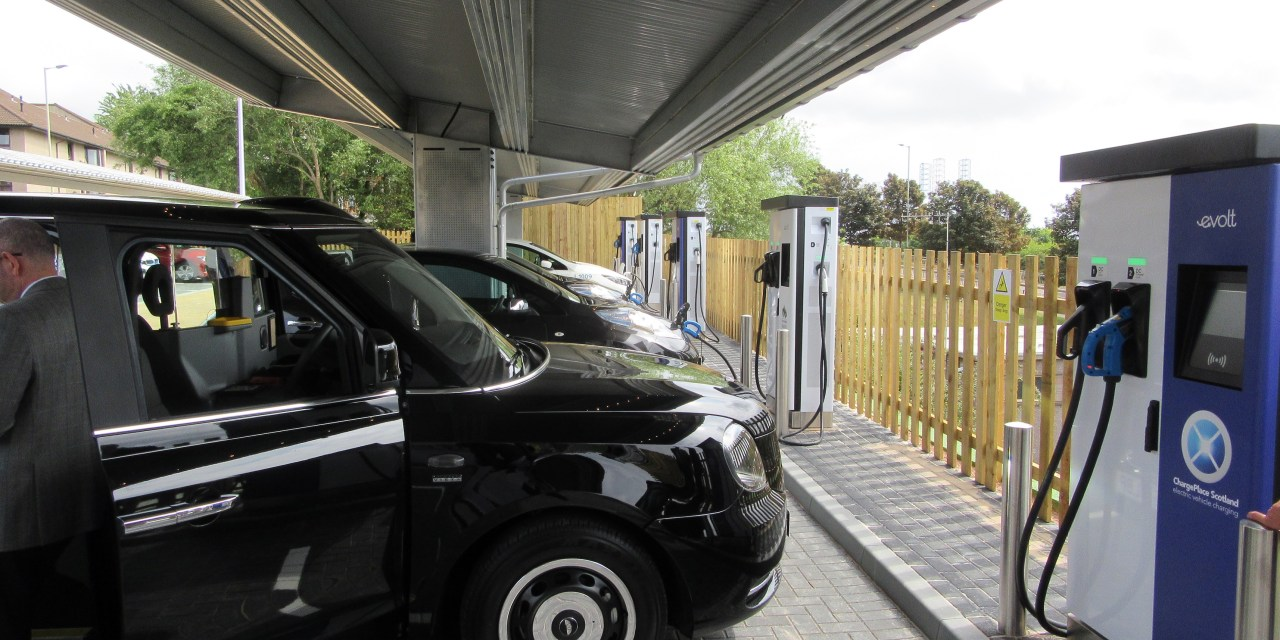 eVolt installs rapid charging units for first solar power hub in Dundee