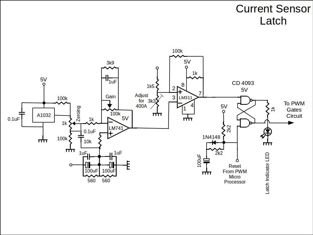 Current Sensor Latch Circuit