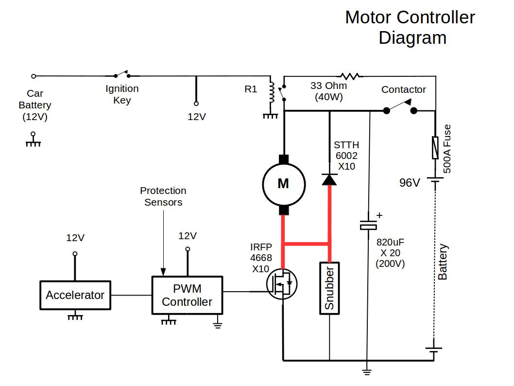 Motor Controller Schematic Diagram