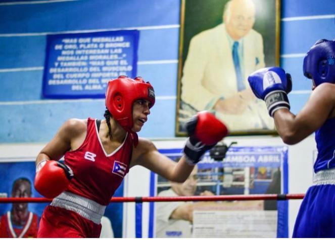 Tatiana Ortíz en combate representando a Puerto Rico (Photo by Tatiana Ortíz)