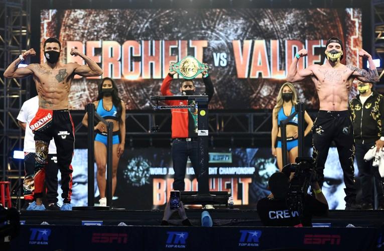 PESAJE OFICIAL: MIGUEL BERCHELT VS OSCAR VALDEZ