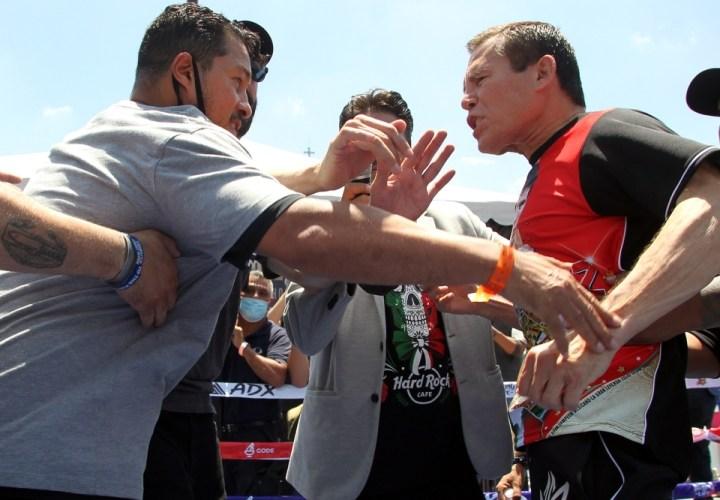Julio César Chávez y Héctor Camacho casi se van a las trompadas