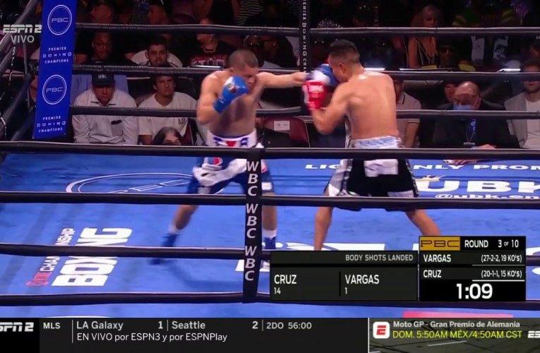 Isaac 'Pitbull' Cruz venció en gran pelea al Bandido Vargas