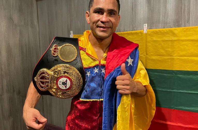 Gabriel Maestre nuevo campeón mundial interino welter