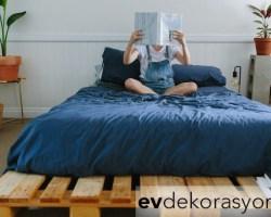 Uykunuzu Getirecek Palet Yatak Tasarımları