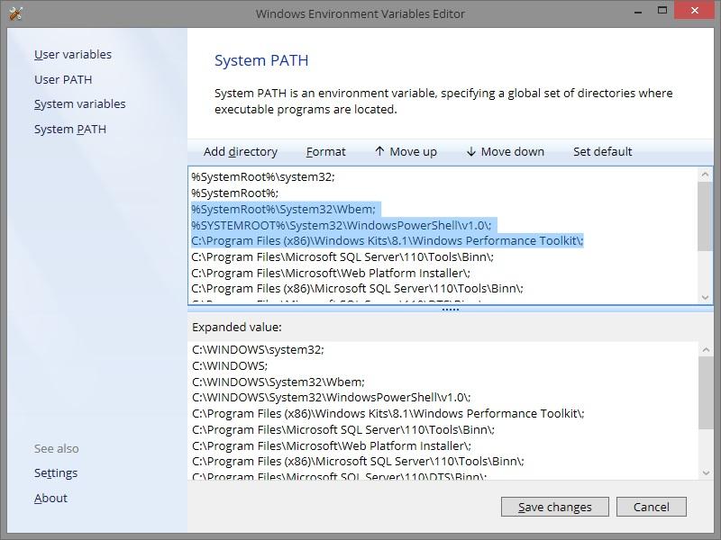 windows environment path editor