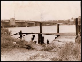 Pascagoula Encounter site in 1973. The old pier.