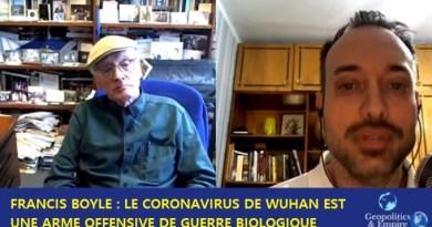 Le Dr Francis Boyle, confirme que le coronavirus est une «arme de guerre biologique offensive»