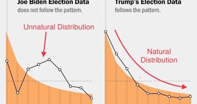 Les votes de Joe Biden violent la loi de Benford (mathématiques) – Statistiquement impossible (fraudes électorales)