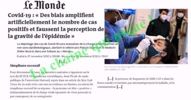 L'ARNAQUE DES TESTS PCR enfin dénoncée par le journal Le Monde