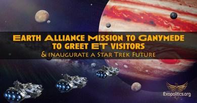 Mission de l'Alliance Terrienne sur Ganymède pour accueillir des visiteurs ET et inaugurer un futur Star Trek